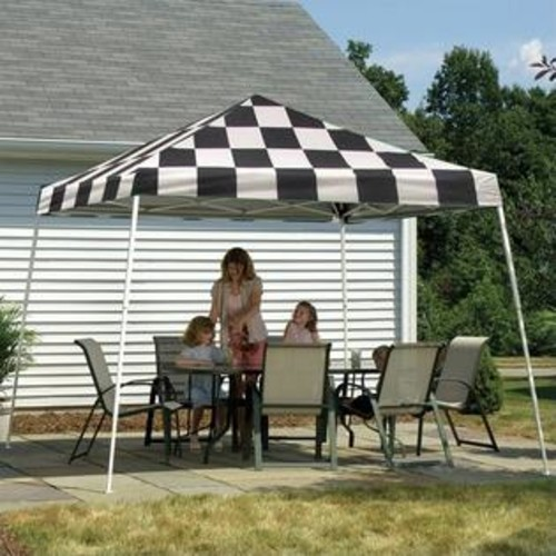 ShelterLogic 12'x12' Sport Pop-Up Canopy Slant Leg with Cover in Checker