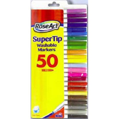RoseArt 50ct Washable Super Tip Markers