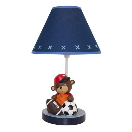 Lambs & Ivy(R) Future All Star Blue/Red Sports Lamp with Shade and Bulb