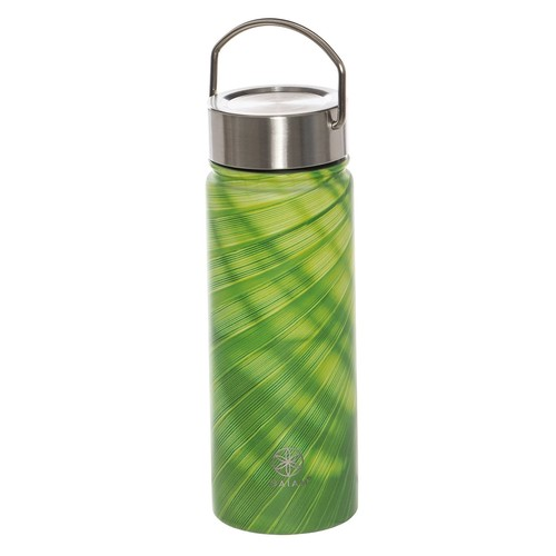 Gaiam Wide-Mouth Water Bottle - BPA-Free Stainless Steel, 18 fl.oz.