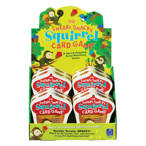 Educational Insights The Sneaky Snacky Squirrel Card Game! Counter Display of 8