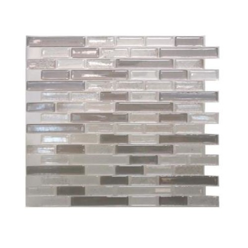 Smart Tiles Muretto Beige 10.25 in. W x 9.125 in. H Peel and Stick Self-Adhesive Decorative Mosaic Wall Tile Backsplash (12-Pack)