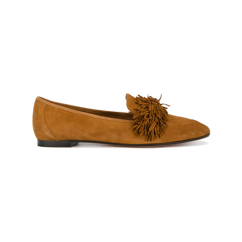 Brown Wild Suede Loafers