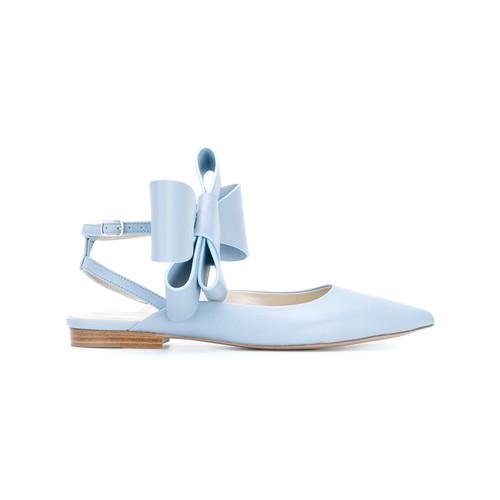 bow embellished ballerina shoes