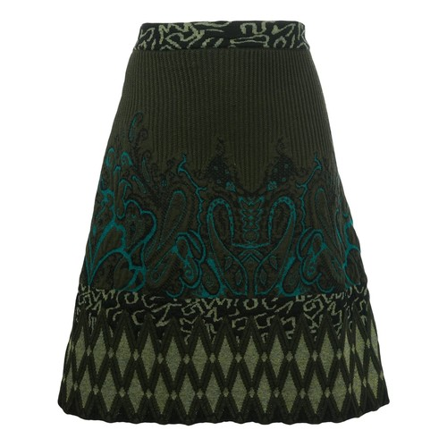 ETRO Intarsia Knitted A-Line Skirt