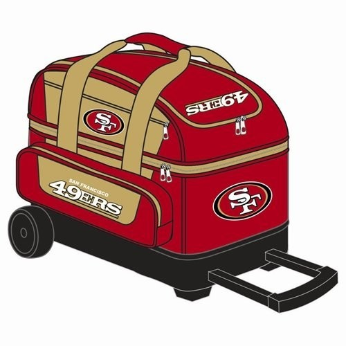 NFL Double Roller 49ers Bowling Bag
