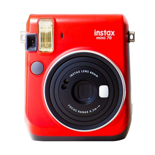 Fujifilm - Instax Mini 70 Instant Film Camera - Passion Red