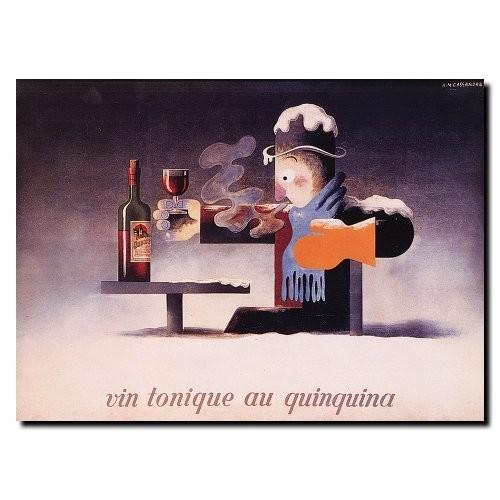 Trademark Fine Art Vin Tonique Quinquina by Adolphe Cassandre, 14x19-Inch Canvas Wall Art