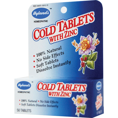Hyland's Cold Tablets With Zinc -- 50 Quick-Dissolving Tablets