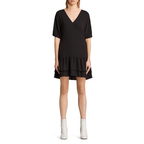 ALLSAINTS Marley Tiered-Hem Dress