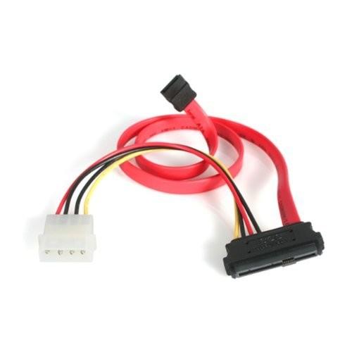 StarTech 18-Inch SAS 29 Pin to SATA Cable with LP4 Power (SAS729PW18)