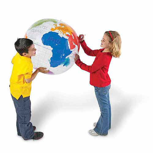 Learning Resources Inflatable Labeling Globe Game