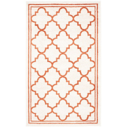 Safavieh Indoor/ Outdoor Amherst Beige/ Orange Rug (3' x 5')