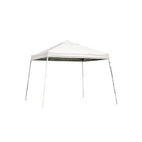 12x12 Slant Leg Pop-up Canopy, Green Cover, Black Roller Bag [WHITE, 12 x 12-Feet]