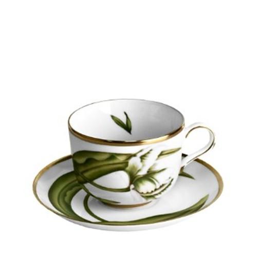 White Tulips Tea Saucer