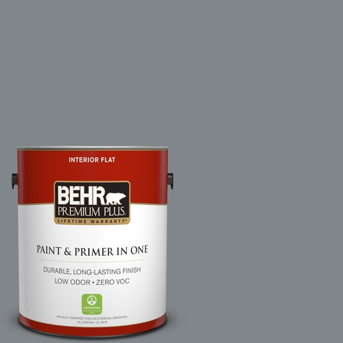 BEHR Premium Plus 1-gal. #N500-5 Magnetic Gray Flat Interior Paint