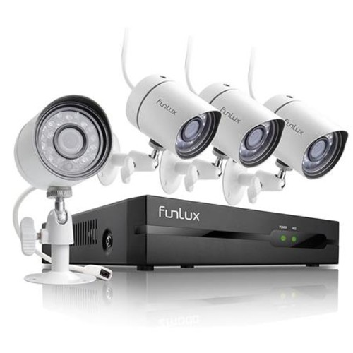 Funlux 4 Channel HDMI NVR Simplified PoE Security Camera System, No Hard Drive