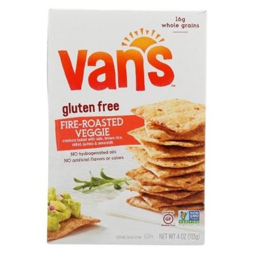 Van's Natural Foods Crispy Whole Grain Baked Crackers Gluten Free Fire-Roasted Veggie -- 4 oz