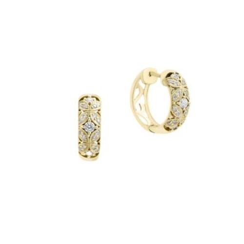 D oro Diamond Hoop Earrings