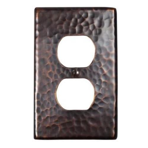 Single Duplex Receptacle Switch Plate - Antique Copper