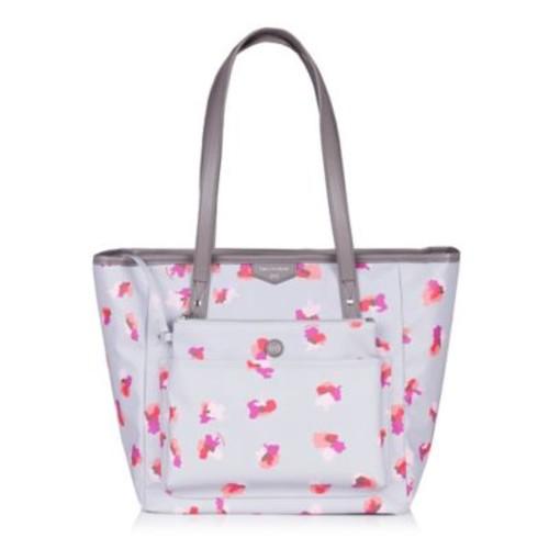 TWELVElittle Everyday Tote Plus Diaper Bag in Grey Floral