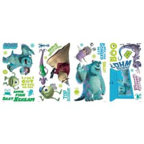 10 in. x 18 in. Monsters Inc 31-Piece Peel and Stick Wall Decals