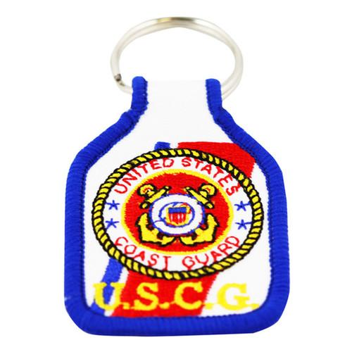 US Coast Guard Embroidered Keychain
