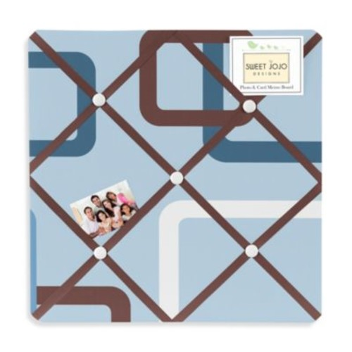 Sweet Jojo Designs Geo Memo Board in Blue/Brown