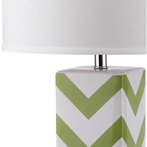 Safavieh Chevron Stripe Table Lamp with CFL Bulb, Multiple Colors, Set of 2