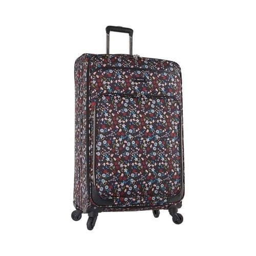 Nine West Packmeup 28in Expandable Spinner Luggage Black Multi