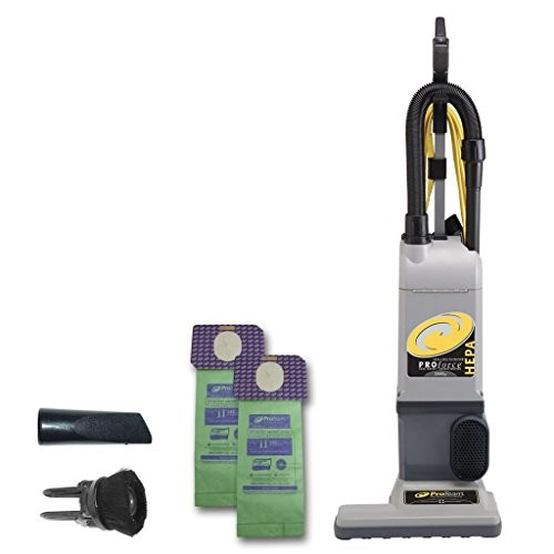 ProTeam ProForce 1500XP Bagged Upright Vacuum Cleaner with HEPA Media Filtration, Commercial Upright Vacuum with On-Board Tools, Corded [1500XP]