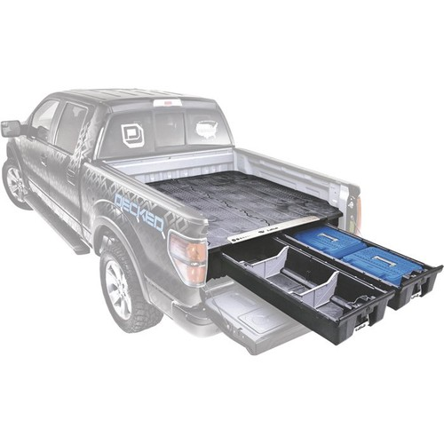 DECKED 2-Drawer Pickup Truck Bed Storage System  For Ford F-150 (2015Current), 6ft.6in. Bed Length,