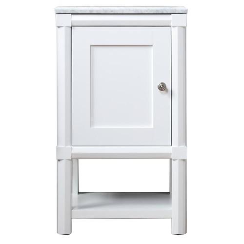 Martha Stewart Living Sutton 15 in. W x 20 in. D x 34.5 in. H One Door Small Side Unit in Bright White