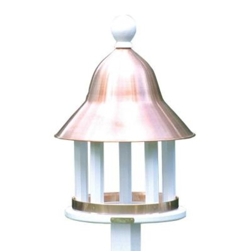 Good Directions Lazy Hill Farm Designs Bell Bird Feeder with Polished Copper Roof
