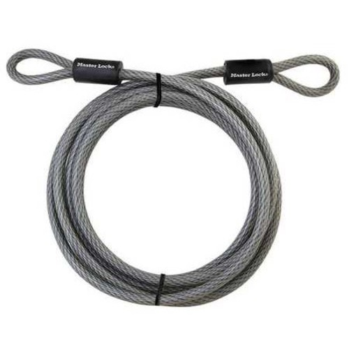 MASTER LOCK 72DPF Security Cable,3/8 in,15 ft,Woven Steel
