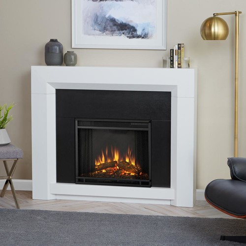 Real Flame Colton 48 in. Ventless Electric Fireplace in White