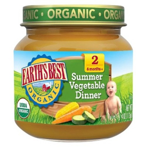 Earth's Best Organic Summer Vegetable Dinner Baby Food, 4 oz. (12 Count)