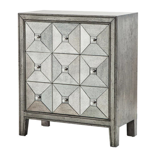 Madison Park Antiqued Mirror Chest