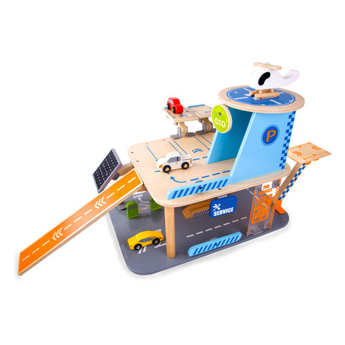 Classic Toy Wood Green Garage Playset