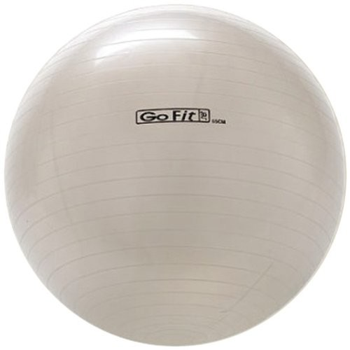 Exercise Stability Ball by GoFit 65cm, White with Pump & Poster | Great for Balance, Fitness, Yoga, & Core Strength : Beach Balls : Sports & Outdoors [65 cm]