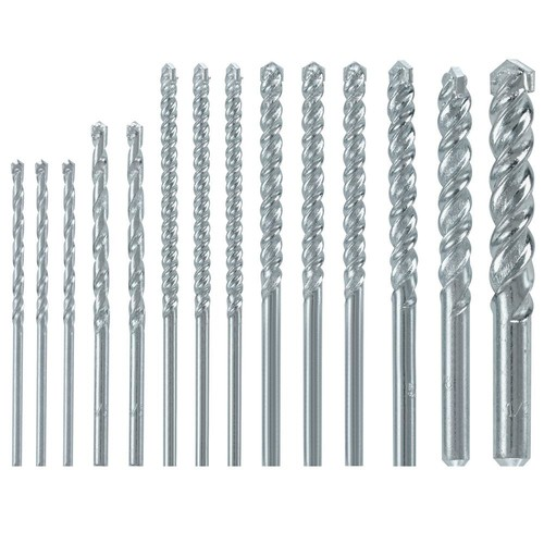 Bosch Fast Spiral Carbide Masonry Rotary Drill Bit Set for Drilling in Brick and Block (14-Piece)