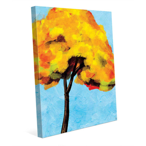 Autumn Tree Alone Bright Sky Canvas Wall Art [option : Autumn Tree Alone Bright Sky 16