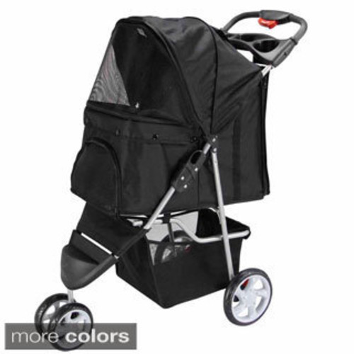 Pet Gear Happy Trails Lite No-zip Pet Stroller [option : Purple]