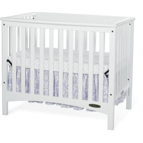 Child Craft London Euro 2-in-1 Mini Crib in White
