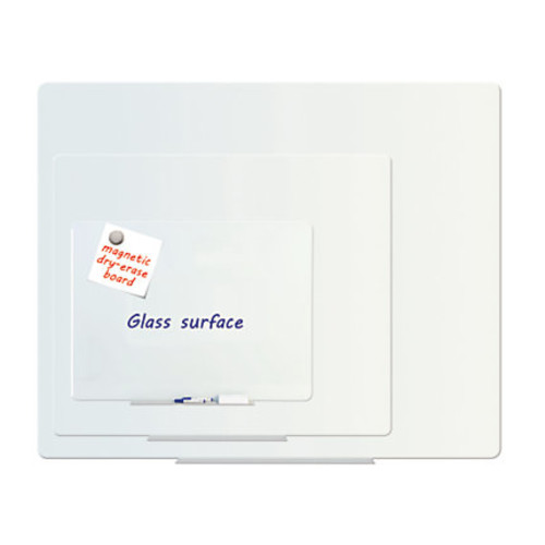 MasterVision Magnetic Dry-Erase Board, Glass, 24