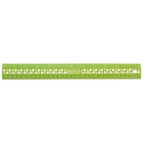 Westcott Ruler Plastic Sports Ruler, 12