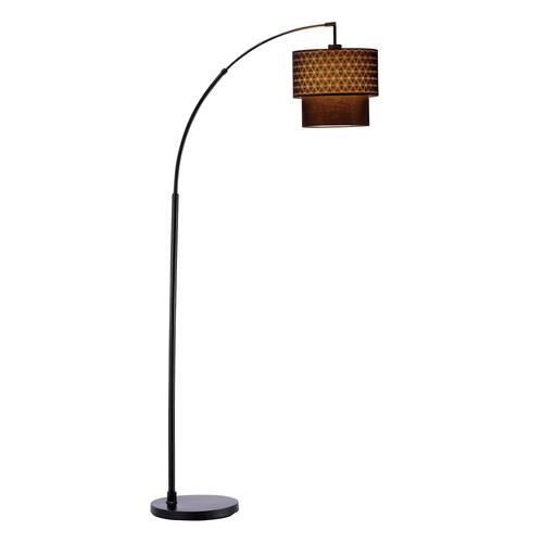 Adesso Gala 71 in. Black Arc Lamp