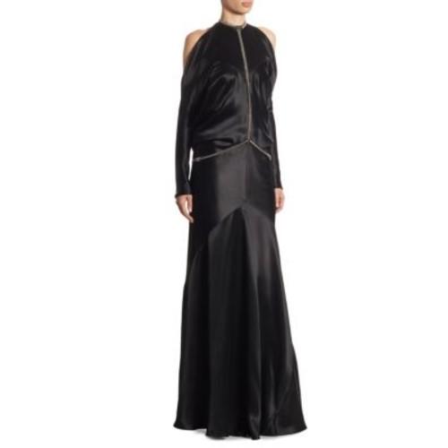 ALEXANDER WANG Fishbone Chain Backless Gown