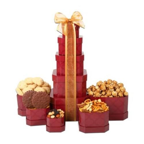 Alder Creek Gift Baskets Burgundy Tower