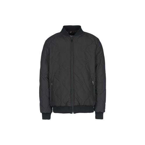 Printed Quilted Reversible Zip Varsity Jacket